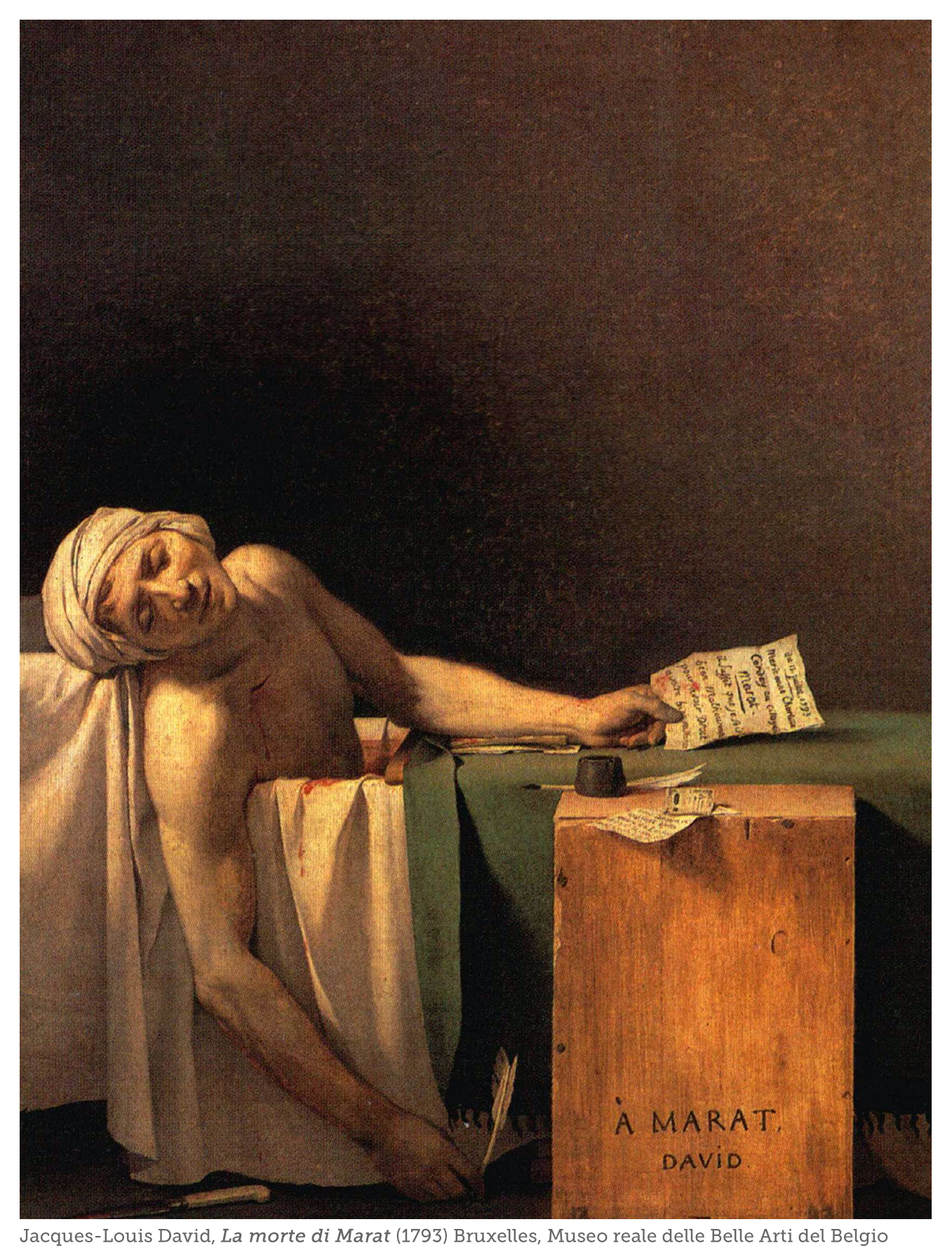 La morte di Marat di Jacques Louis David: il teatro delle illusioni perdute